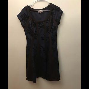 SIGNATURE BY ROBBIE BEE BLUE BLACK DRESS